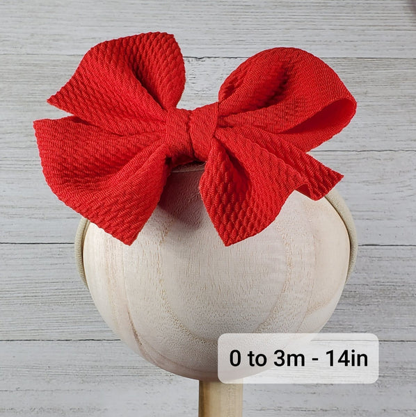 Bow 4.5in Headband or Clip - Light Coral