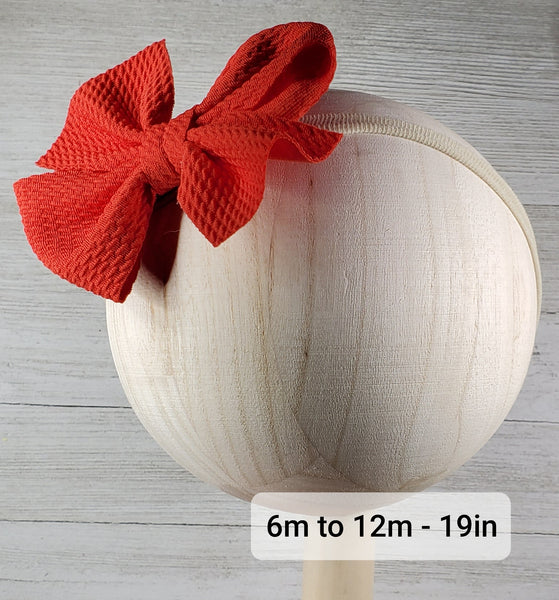Bow 4.5in Headband or Clip - Forest Green