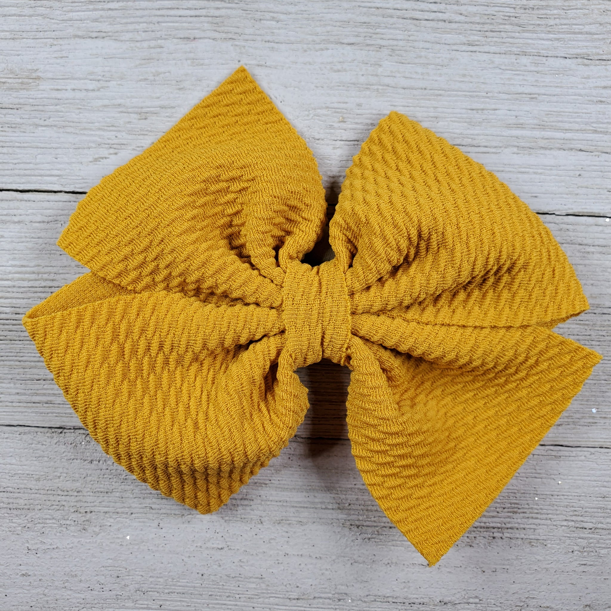 Bow 4.5in Headband or Clip - Mustard