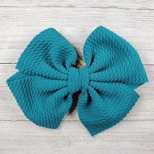 Bow 4.5in Headband or Clip - Teal