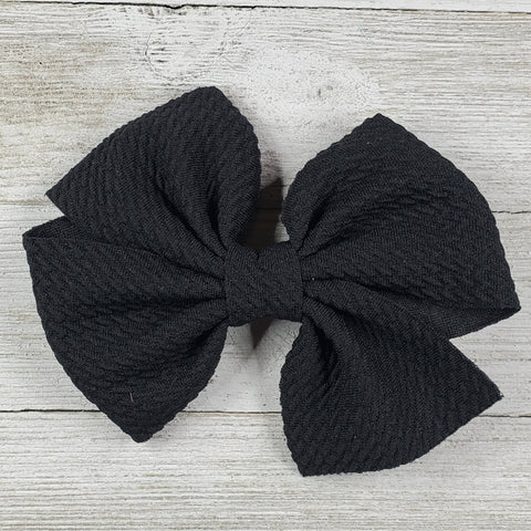 Bow 4.5in Headband or clip - Black