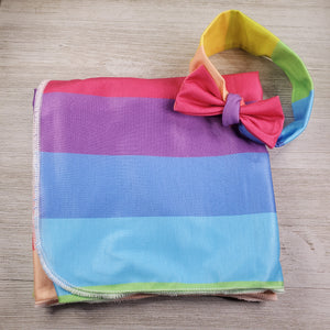 Swaddle Blanket and Headband - Rainbow
