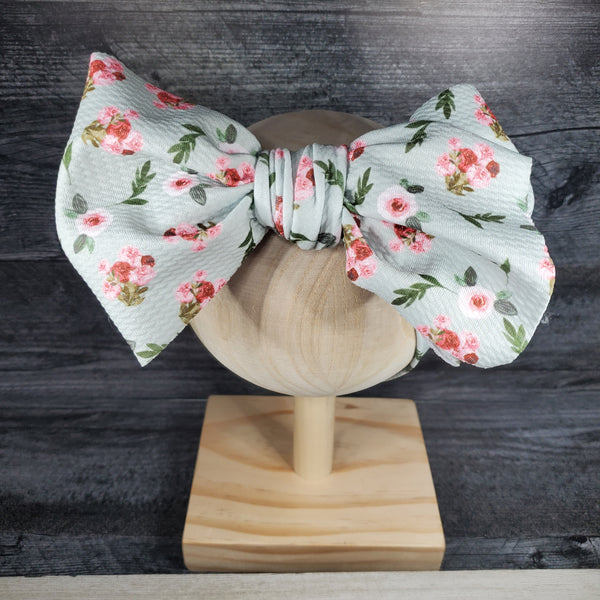 Mint Floral Headwrap