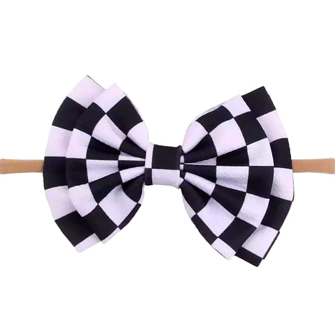 Racing Checker Nylon Headband