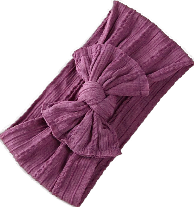 Textured Nylon Headband - Purple
