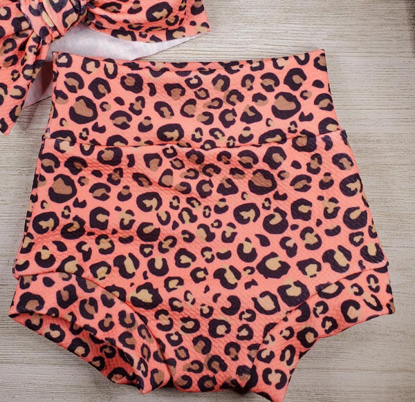 Coral Leopard Bummie - 9 to 12m