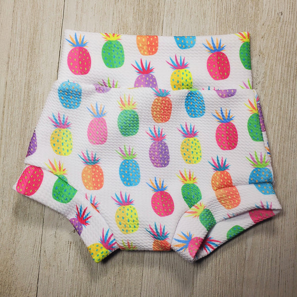 Multi-color Pineapple Bummie Set with Matching Headwrap