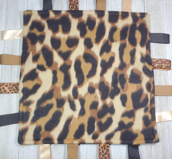 Cheetah Lovey Tag Blanket