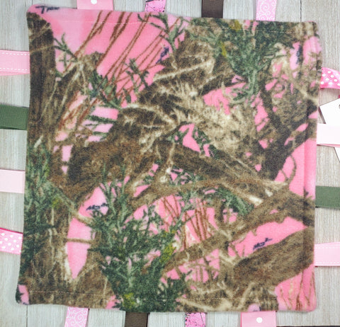 Camo Girl Lovey Tag Blanket