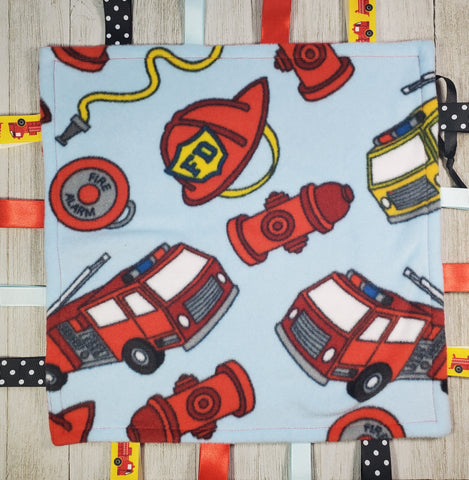 Fireman Lovey Tag Blanket