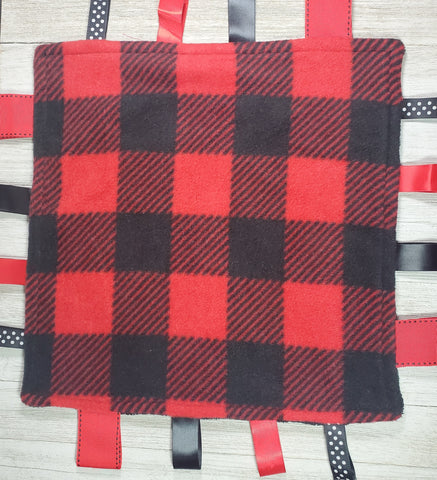 Buffalo Plaid Lovey Tag Blanket