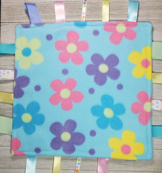 Flowers Lovey Tag Blanket