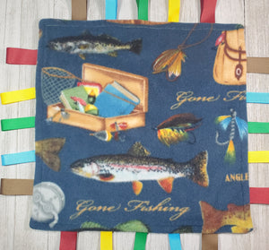 Fish Lovey Tag Blanket