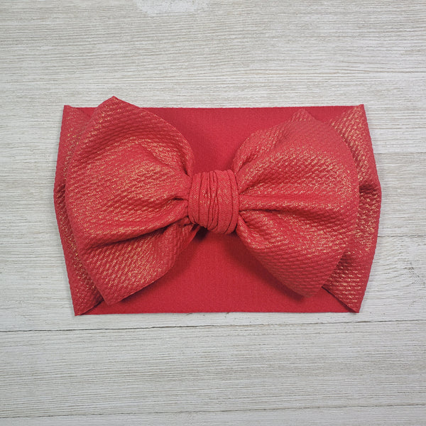 Red Gold Shine Headwrap