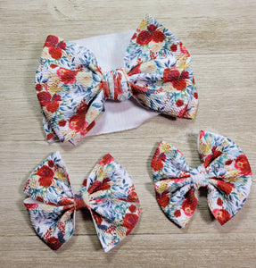 Floral Holiday Bows