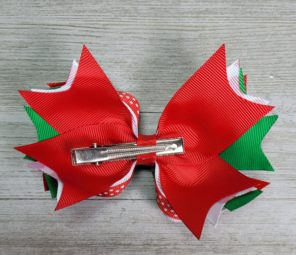 Christmas Hairbow - 5 inch