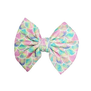 Watercolor Mermaid Bow or Piggies