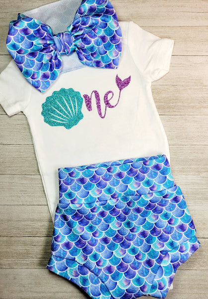 1 year old Birthday seashell onesie or toddler t-shirt