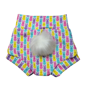 Peeps Easter Bummie with optional Rabbit Tail(Pom)