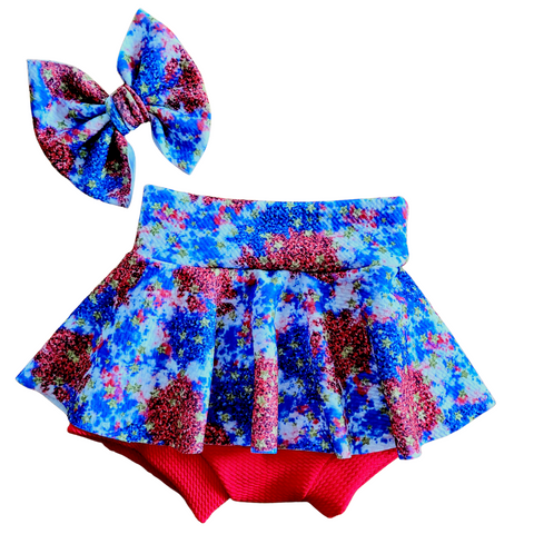 Red White Blue and Gold Fabric - Bow, Bummie or Bummie Skirt