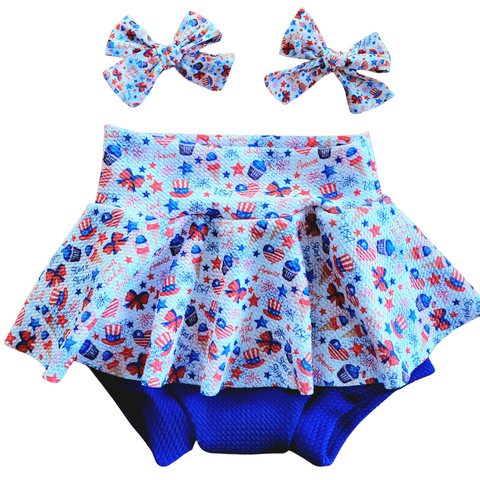 Sweet Land of Liberty  - Bow, Bummie or Bummie Skirt