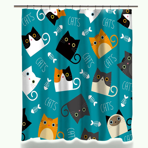 Cortinas Shower Cat
