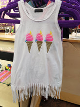 Load image into Gallery viewer, Ice Cream Fringe Tank - LilChic BabyBug Boutique