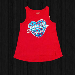 American Cutie Muscle Tank - LilChic BabyBug Boutique