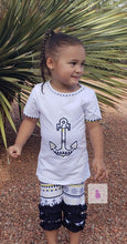 Load image into Gallery viewer, Anchors Away Capri Set - LilChic BabyBug Boutique LLC