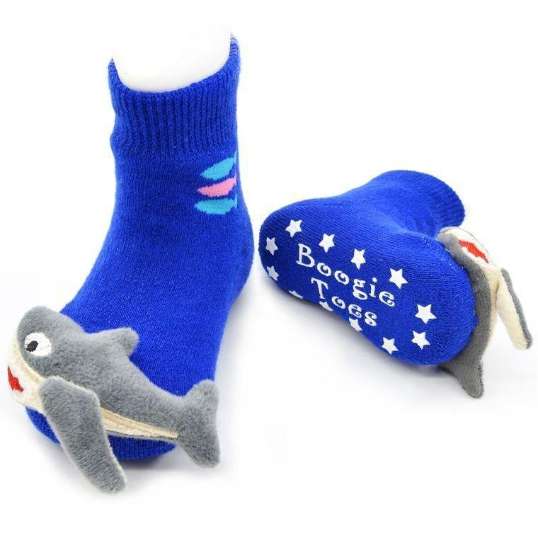 Baby Shark Boogie Toes Rattle Socks - LilChic BabyBug Boutique LLC