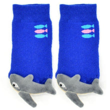 Load image into Gallery viewer, Baby Shark Boogie Toes Rattle Socks - LilChic BabyBug Boutique LLC