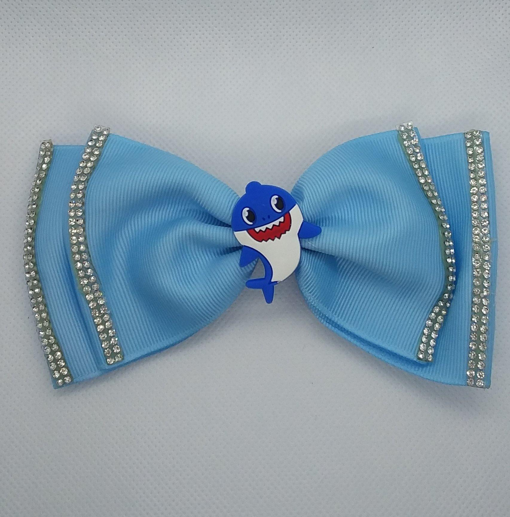 Baby Shark Bows - LilChic BabyBug Boutique