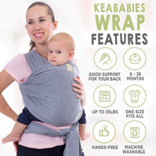 Load image into Gallery viewer, Baby Wrap Carrier (Classic Gray) - LilChic BabyBug Boutique LLC