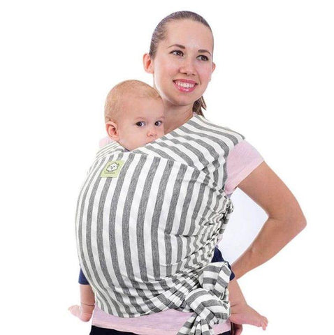 Baby Wrap Carrier (Gray Stripe) - LilChic BabyBug Boutique LLC