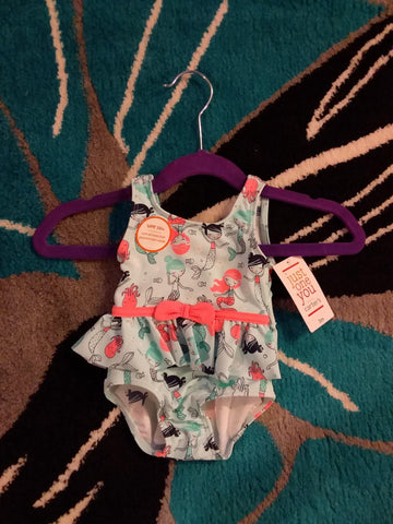 Blue Mermaid Character Swimsuit - LilChic BabyBug Boutique