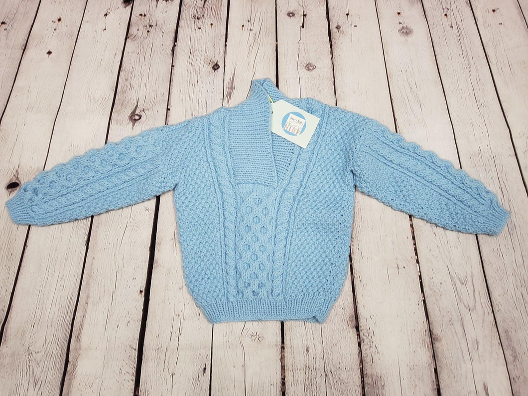 Blue Sweater - LilChic BabyBug Boutique LLC