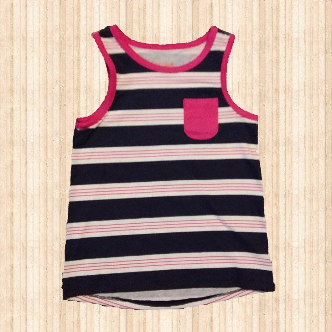 Blue/Pink Muscle Tank - LilChic BabyBug Boutique LLC