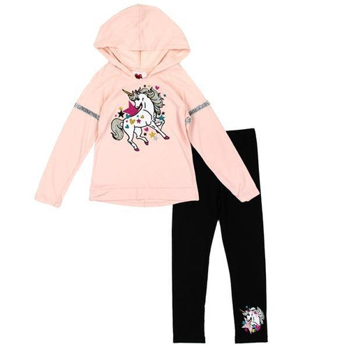 Blush Unicorn Hoodie & Legging Set - LilChic BabyBug Boutique