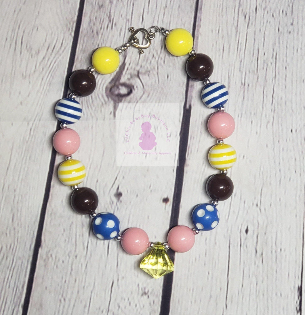 Bubble Gum Bead Necklaces - LilChic BabyBug Boutique LLC