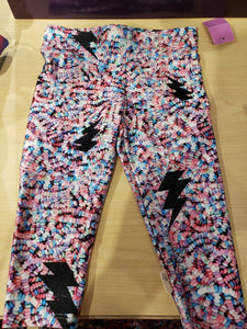 Candy Necklace/Lightning Bolt Crop legging - LilChic BabyBug Boutique