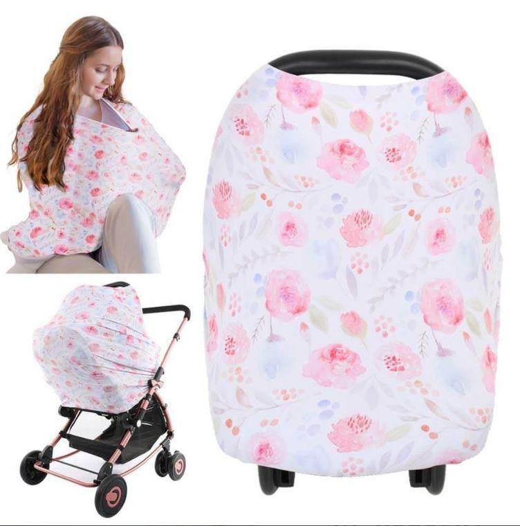 Carseat Canopy - Nursing Cover (Dainty Bloom) - LilChic BabyBug Boutique LLC