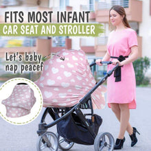 Load image into Gallery viewer, Carseat Canopy - Nursing Cover (Sweetheart) - LilChic BabyBug Boutique LLC