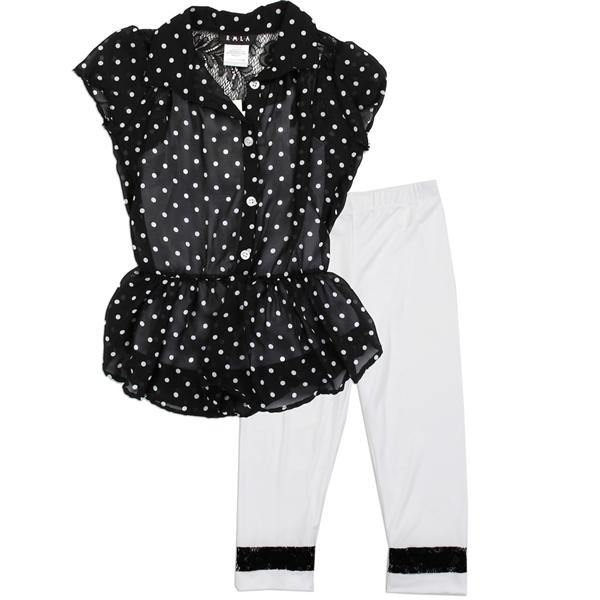 Chiffon Legging Set - LilChic BabyBug Boutique
