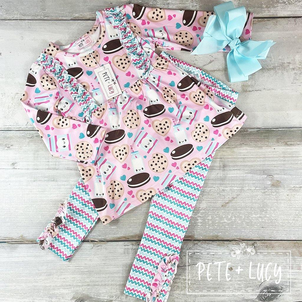 Cookies and Cream Legging Set - LilChic BabyBug Boutique LLC