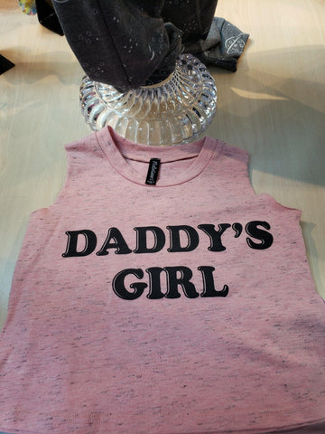 """Daddy's Girl"" Muscle Tank - LilChic BabyBug Boutique"