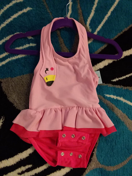 Flamingo Halter Swimsuit - LilChic BabyBug Boutique
