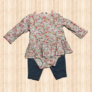 Floral 2piece set - LilChic BabyBug Boutique