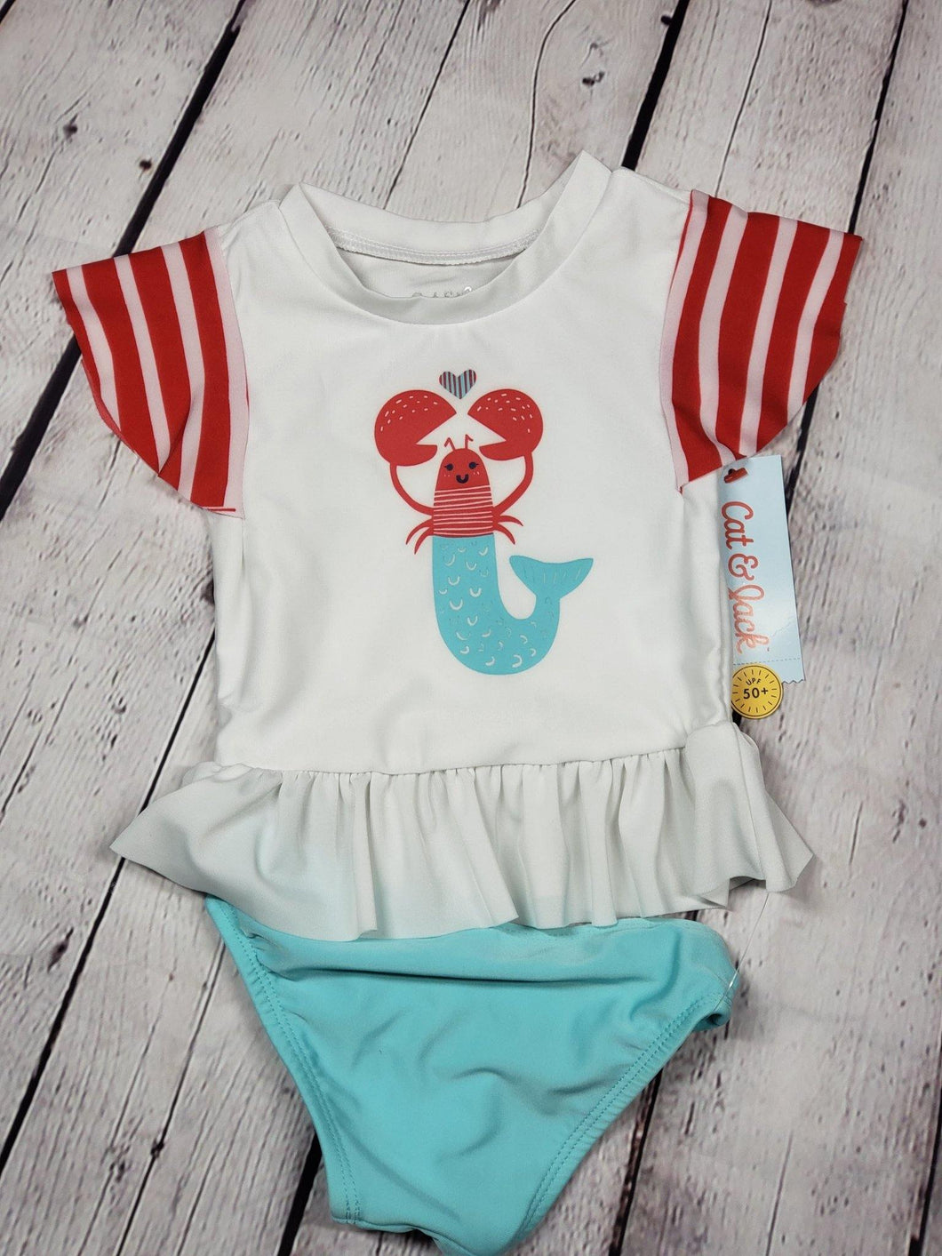 Infant Lobster Two Piece Swimsuit - LilChic BabyBug Boutique