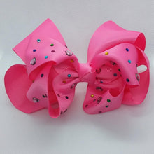 Load image into Gallery viewer, Jumbo Heart Studded Bow - LilChic BabyBug Boutique
