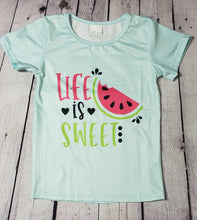 Load image into Gallery viewer, Life Is Sweet Denim Short Set - LilChic BabyBug Boutique LLC
